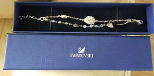 Authentic Swarovski Bracelet, double strand blue silver white Crystal's in box