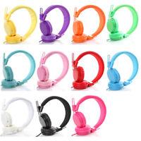 Kids Children Headband Earphones Over Wired Ear Headphones for iPad Tablet LN