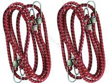 10.2x183cm 9mm Sandows câbles Crochets élastique cordes auto moto rouge attache