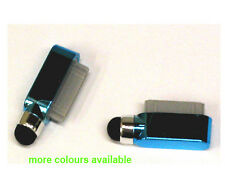 Dock Charge Port Dust Cover Pen Stylus For iPad 2 3 iPhone 4 4G 4S 3G 3Gs L Blue