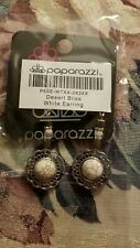 Paparazzi Jewelry  white and Silver Earrings