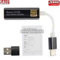 iBasso DC04 Headphone Amplifier DAC Type-C To 4.4MM External Sound Card Black*