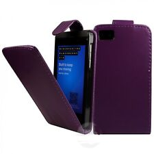 PURPLE PU LEATHER FLIP CASE WITH CARD SLOT FOR BLACKBERRY Z10 UK