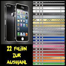 IPHONE 5S FOLIE SCHWARZ CARBON ( BUMPER COVER HÜLLE SKIN SCHALE CASE )