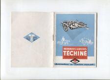 N°10611 / catalogue instruments agricoles TECHINE Valence-d'Agen