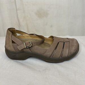 Dansko Kiera Brown Leather Fisherman Sandal Mary Jane Women's Size EUR 39 US 8.5