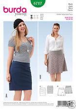 Burda 6717 Misses Plus Skirt Sizes 16-26 Sewing Pattern