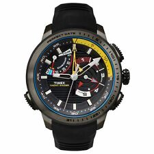 New Timex Men's Intelligent Quartz Yacht Racer Grey Ion-plated Stainless Watch