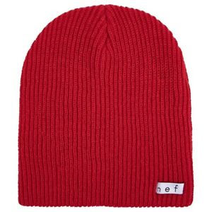 NEFF Daily Beanie Acrylic Rib Knit One Size Fits Most Red New
