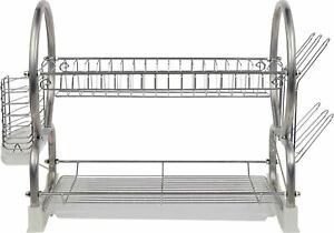 Home 2 Tier Dish Rack - Silver
