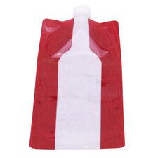 1pcs Foldable Wine Bag Flask Wine Bottle Cooler for Camping Outdoor G