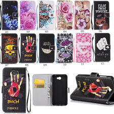 Hybrid Flip Cover Card Wallet Leather Stand Case Pouch w/Strap for Huawei Phones