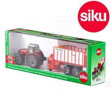 Siku 1987 Massey Ferguson 8690 Tractor + Pottinger Jumbo Harvester Trailer 6010