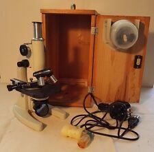 Vintage XSP-13A Laboratory Scientific x5-10-12.5-40-100 Telescoping Microscope