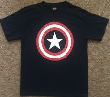 Marvel Comics Official CAPTAIN AMERICA T Shirt M (38-40) Used Star Shield