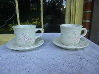 Lot of 2 PFALTZGRAFF TEA ROSE Cup and Saucer Sets  USA