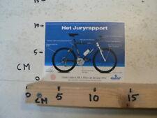 STICKER,DECAL GIANT CADEX CFM 3 FIETS VAN HET JAAR 1992 JURYRAPPORT CYCLING