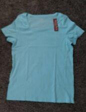 blue XXL Merona Womens short sleeve Scoop Neck Tee Shirt