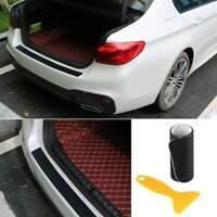 4D Car Rear Bumper Sill Guard Protector Trim Strip Sticker Cover Carbon Fiber UK