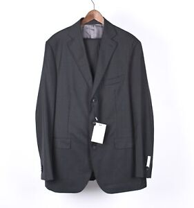 New Suit Supply Lazio Single Breasted Men Gray Suit Blazer & Pants Set Size 114