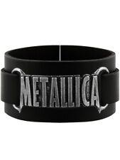 Metallica Wristband Alchemy Rocks Logo Leather Black