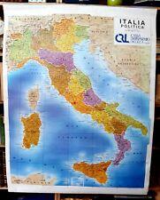 Cartina Italia Politica In Vendita.Carta Geografica Italia Politica In Vendita Ebay