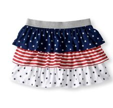 AMERICANA Printed Tiered/Ruffle Tutu Skirt Stars and Stripes L/G (10-12)