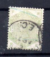 GB QV 1883 1s green fine used SG196 WS16491