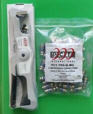 PCT-RH-CT F Connector Compression Tool RG6 & RG59 w/ BAG of Fittings