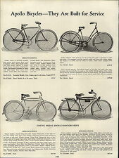 1937 PAPER AD Apollo Bicycle High Carbon Steel Motor Bike Tank Light Horn Rack