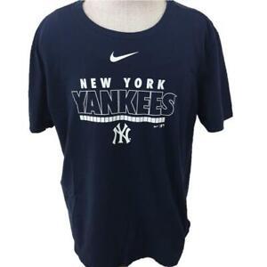 NY Yankees t shirt size XL NIKE NY logo short sleeve blue mens tee