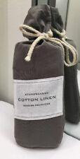 Restoration Hardware Stonewashed Cotton Linen Standard Sham Graphite NEW $79