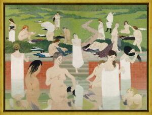 Framed Felix Vallotton Summer Evening Giclee Canvas Print Paintings Poster