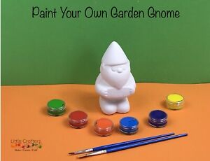 Paint Your Own Ceramic Garden GNOME ~ Kids Art Craft Kit ~ Painting Set ~ Gift
