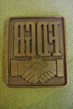 DDR Messing Druckerplatte - Prägestempel - FDGB - Rarität