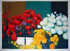 "Jean Claude Allenbach ""Flowers"" Original Lithograph S/N"