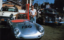 James Dean 4x6 Movie Memorabilia * Porsche 550 Spyder FREE US SHIPPING