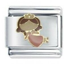 PINK FAIRY PRINCESS - DAISY Charm JSC Fits Classic Size Italian Charms Bracelet