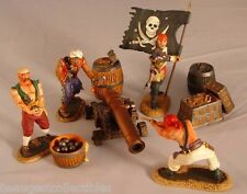 Conte Pirates Black Sails Blackbeard Gun Crew #2Pir022 4figs flag cannon barrels
