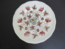 """Old Chelsea W.H. Grindley transferware ironware Staffordshire 6"""" dessert plate"""