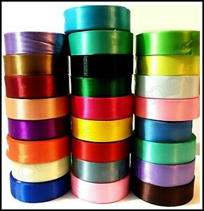 24mm satin silk ribbon 25 x colors for sewing fabric design pipping | UK
