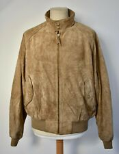 Vtg RALPH LAUREN POLO Brown Suede Leather Harrington Bomber Jacket Coat XL