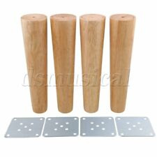 4 x Wood Color Tapered Furniture Leg for Tea Table Cabinet 25cm Height