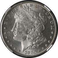 1880-S Morgan Silver Dollar NGC MS63 Blazing White STOCK