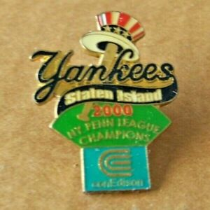 Staten Island Yankees NY 2000 Penn League Champions lapel pin MLB