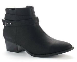 New~NIB~LAUREN CONRAD 'Belle' Strappy Ankle Bootie Boots~Black~Size 6 or 7