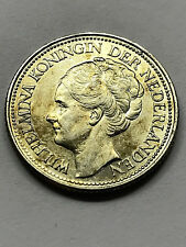 1941 Netherlands 25 Cents Silver XF++ #12307