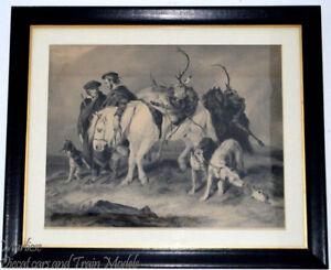 Henry Thomas Ryall engraving after Sir Edwin Henry Landseer_Deer Stalkers Return