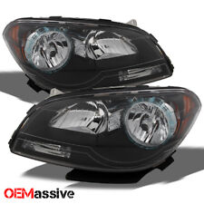Fit 2008-2012 Chevy Malibu Black Headlights light Left+Right  08 09 10 11 12