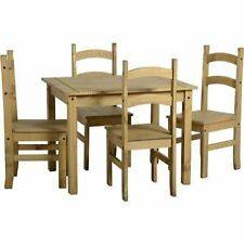 Country Rectangular Table & Chair Sets with 5 Pieces